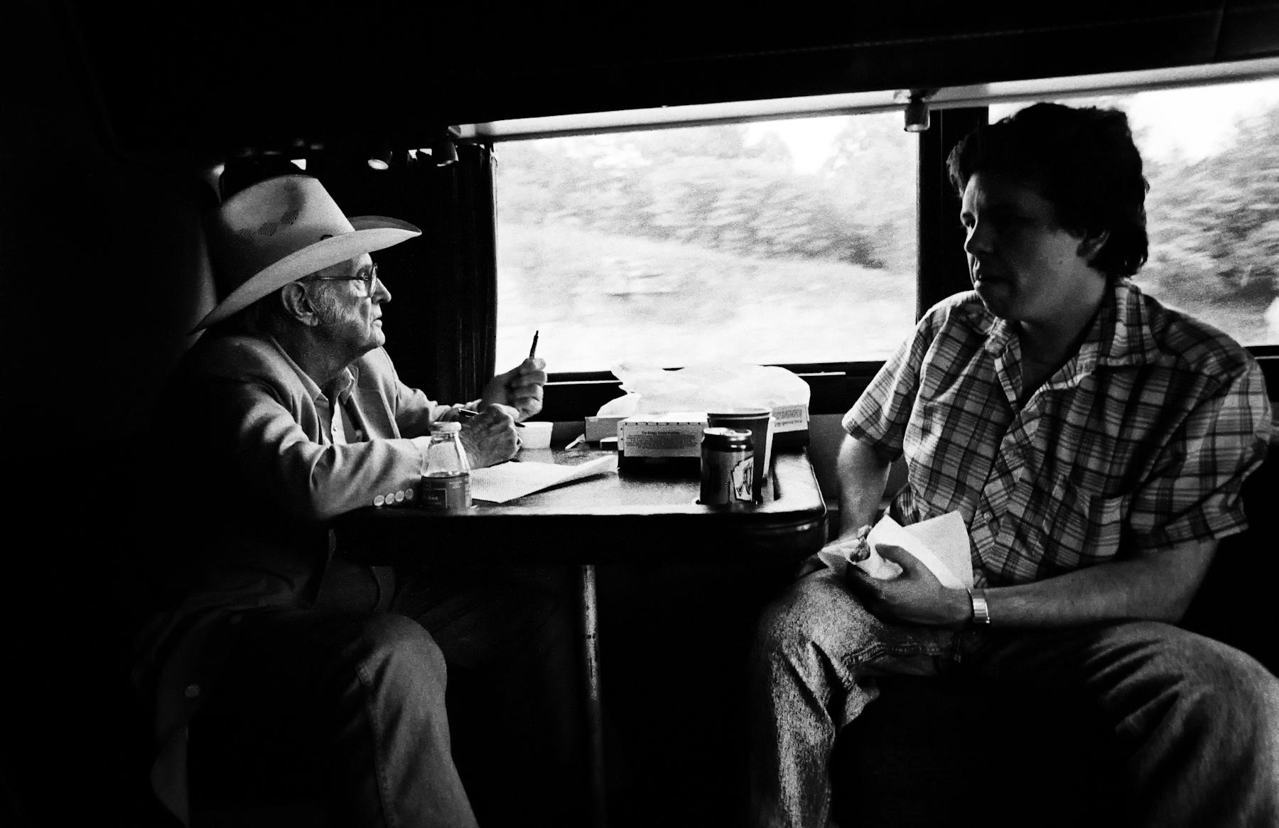 Bill M on train