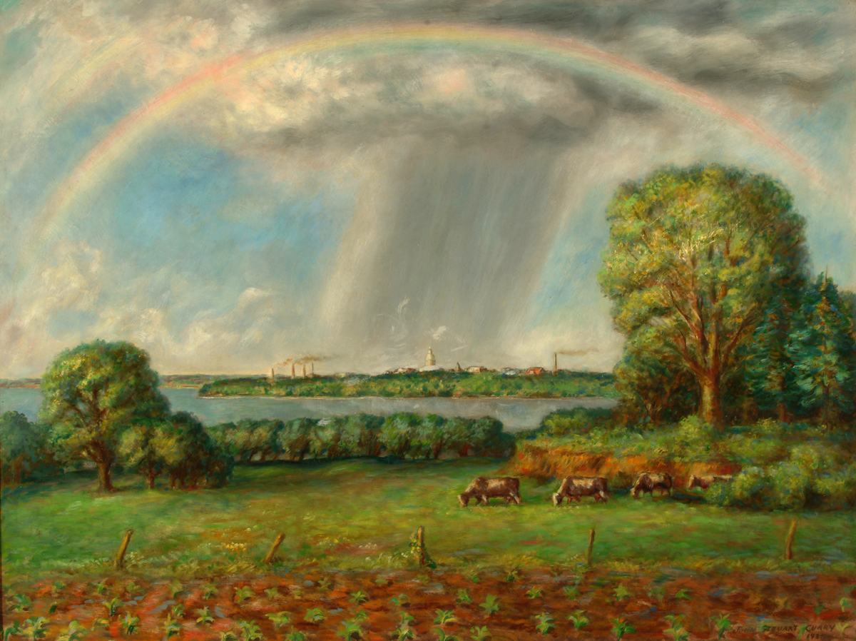 curry View of Madison with Rainbow