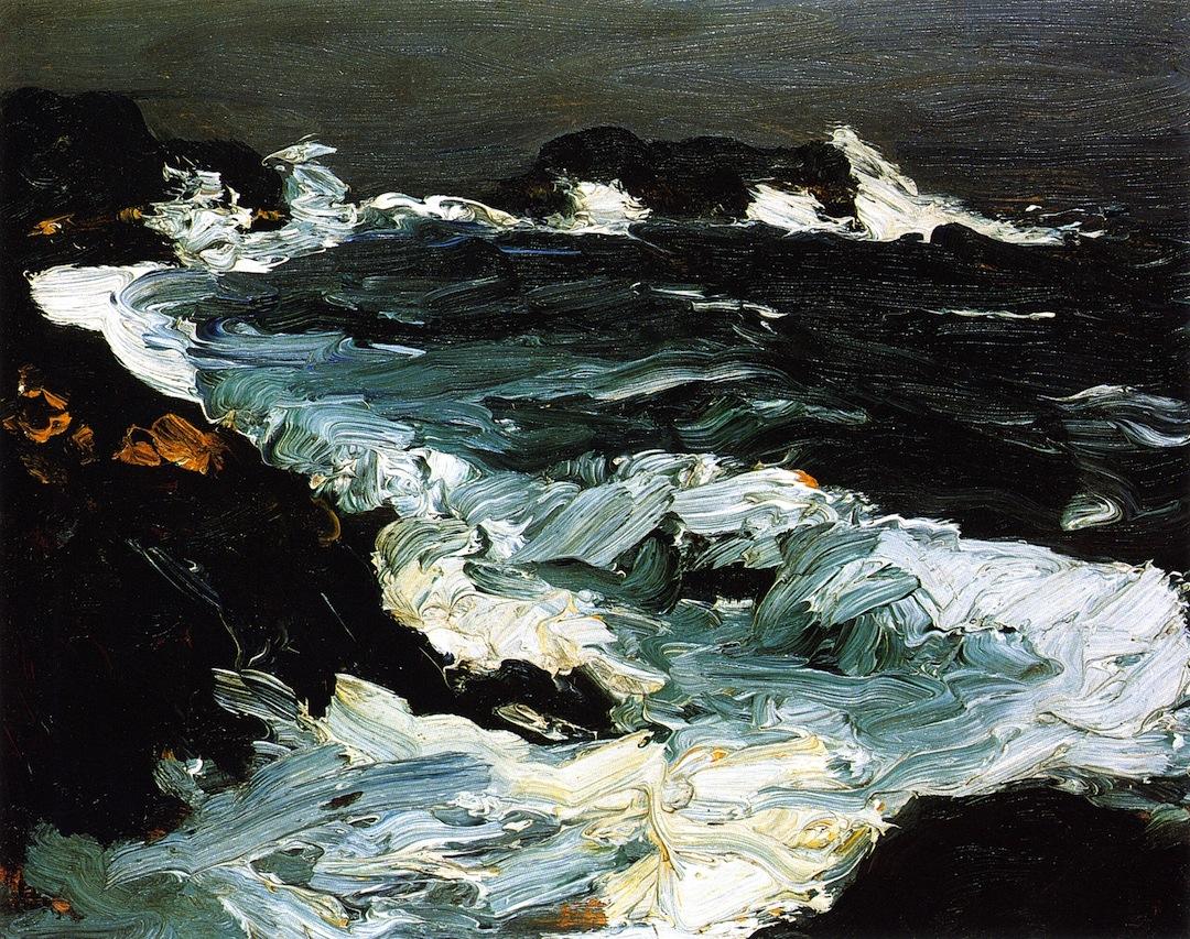 robert-henri-rough-sea-near-lobster-point-1903