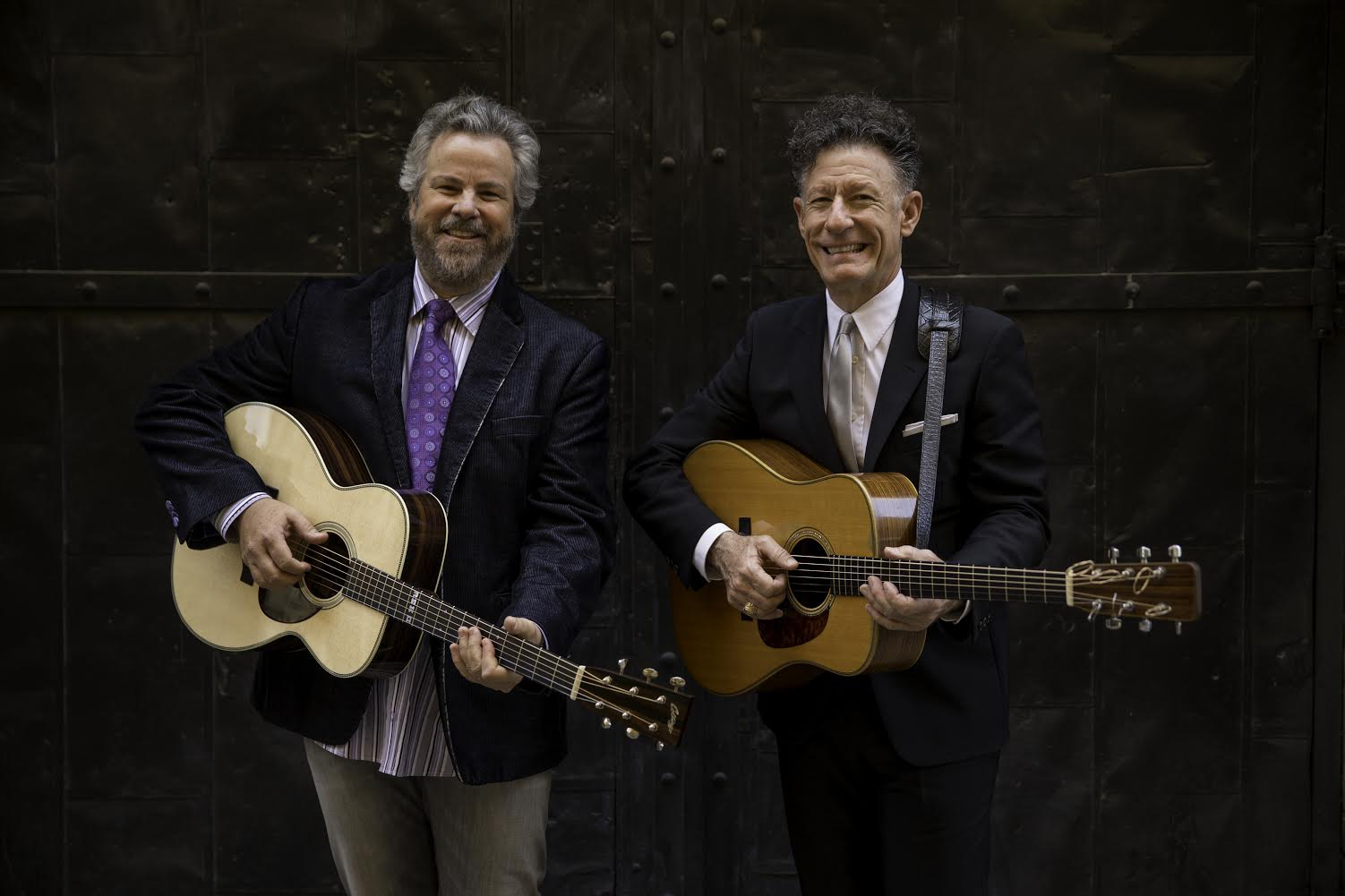 AUSTIN, TX - MAY 22: Robert Earl Keen and Lyle Lovett, photographed at the Paramount Theatre in Austin, Texas on May 22, 2013. Photograph © 2013 Darren Carroll